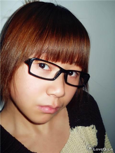 眼镜空气刘海素颜